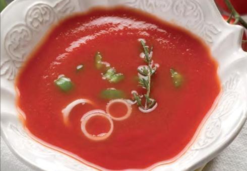 Томатный суп из жареных помидоров