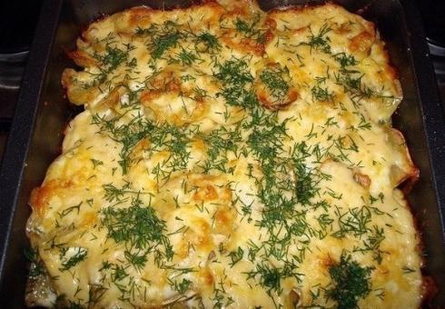 Картошка запеченная мясом рецепт фото
